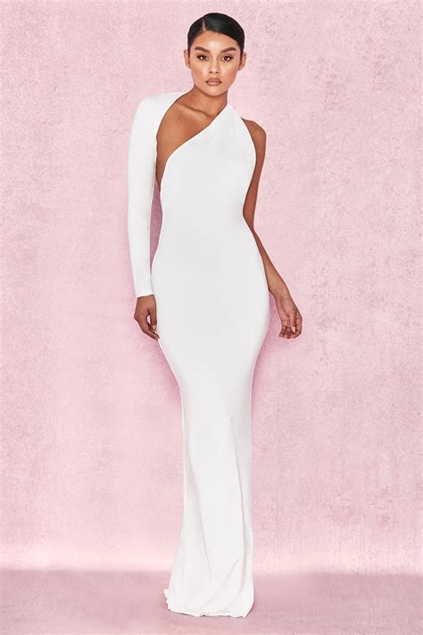 Clothing Max Dresses Merveille White Wrap Sleeve Maxi Dress