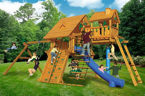 wood kingdom swing set prices colossal kingdom deluxe wooden swingset at playnation of