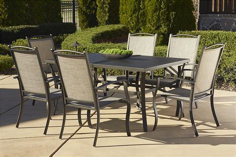 Costco Patio Furniture Dining Sets Cosco Outdoor Serene Ridge Aluminum Patio Dining Sets Costco With Umbrella Scenic Set