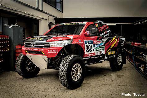 rally mini truck toyota hilux evo mid engine v8 truck revealed 2017 dakar