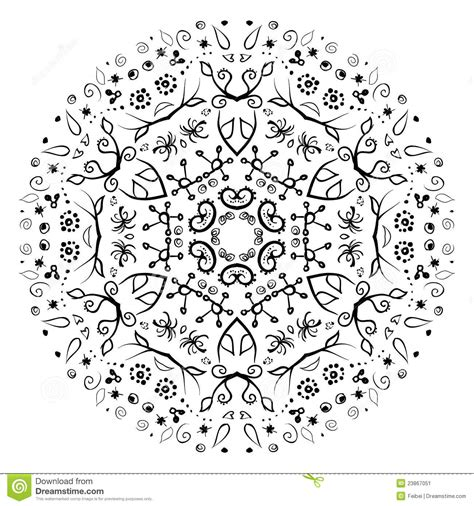 hand drawn flower pattern vector hand drawn floral pattern stock image image 23867051