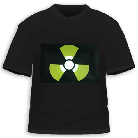 pattern t shirts wholesale nuclear pattern wholesale el t shirt sound activated