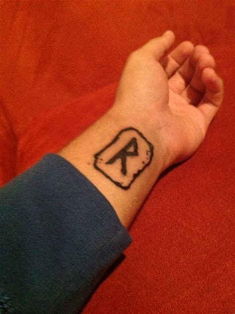 viking rune tattoos at last my wrist this awesome viking rune called