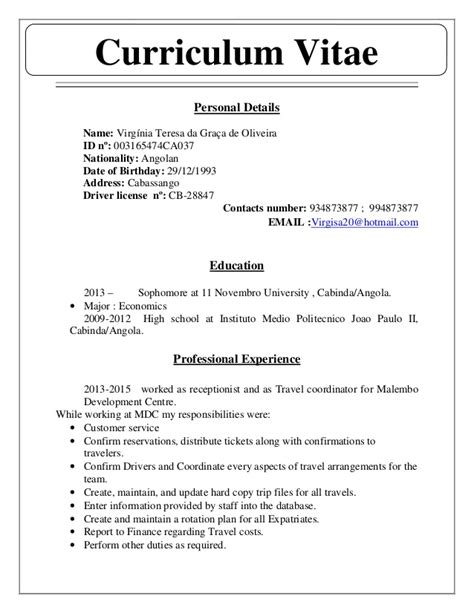 curriculum vitae en ingles search results for cv en ingles exle calendar 2015