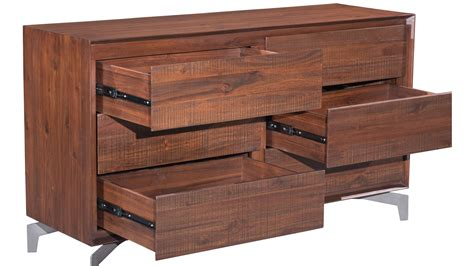 Acacia Wood Dresser by Colville Acacia Wood Dresser Chestnut Zuri Furniture