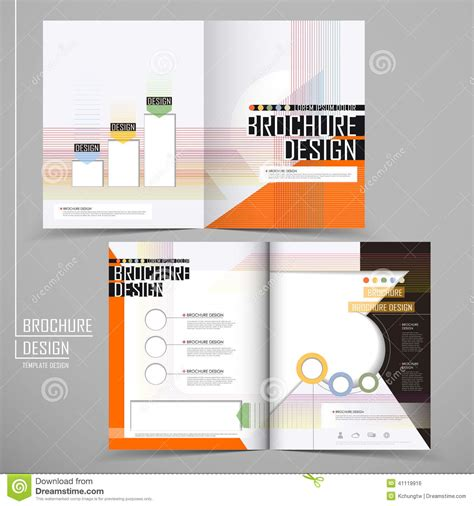 layout design for business vector brochure layout design template stock vector
