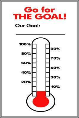 sales thermometer template clipart best