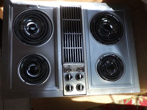 electric cooktop with downdraft jenn air electric cooktop with center downdraft model 89891 stainless steel ebay