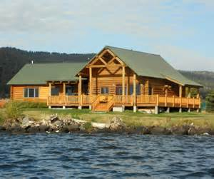 lakefront luxury log home vacation rental yellowstone