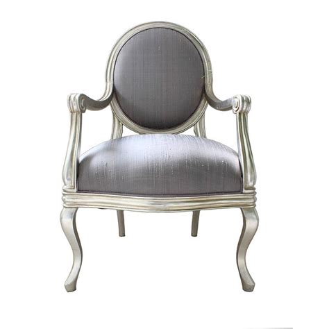 french silver armchair lilac cover by out there interiors