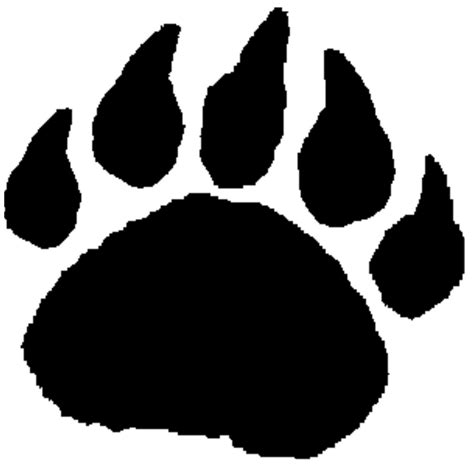 tiger paw template tiger paw print stencil cliparts co