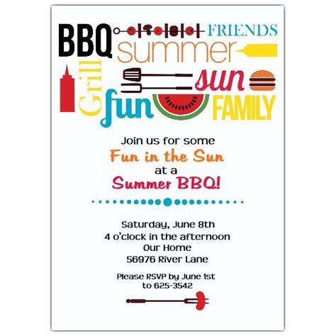 Summer Bbq Party Invitations Paperstyle Summer Bbq Invite Template