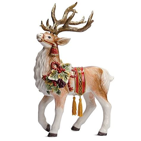 fitz and floyd® regal holiday 18 inch deer figurine bed