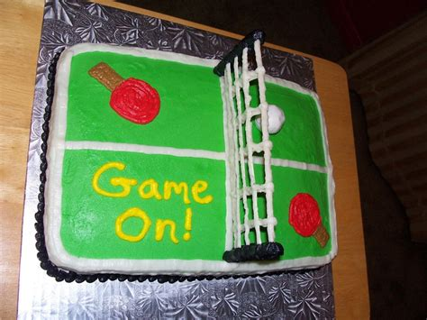 ping pong table tennis cake cakecentral