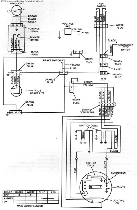 1978 kawasaki inviter intrigure snowmobile wiring diagrams