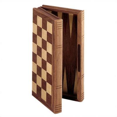 Cs704 St 11 quot walnut folding combination chess set