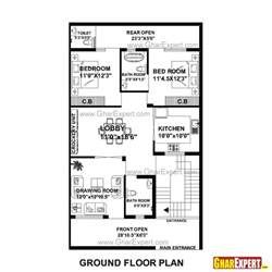 Sq In To Sq Ft House Plan For 30 Feet By 51 Feet Plot Plot Size 170