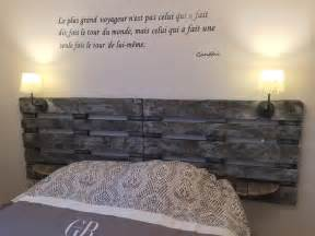 t 234 te de lit en palette gris bleu meubles et rangements