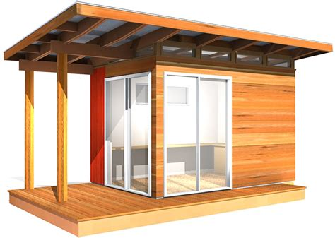Modern Shed Kit: 8' x 12' Coastal Design