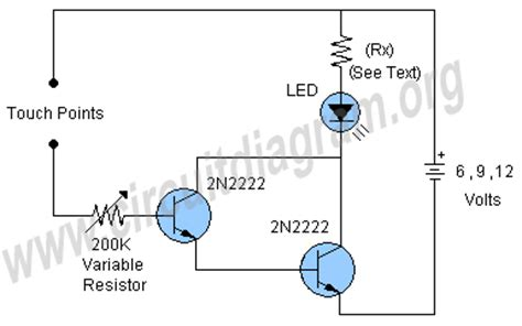 transistor to touch transistor to touch 28 images touch sensitive led simple circuit diagram transistor