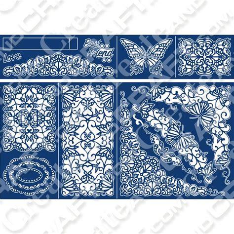 card template dies tattered lace z fold box card die no colour diy templates etc box fiskars fuse