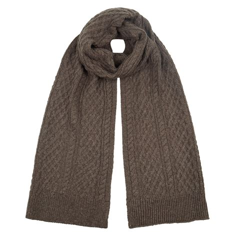 Classic Knit Brown s classic brown cable knit scarf pretty you