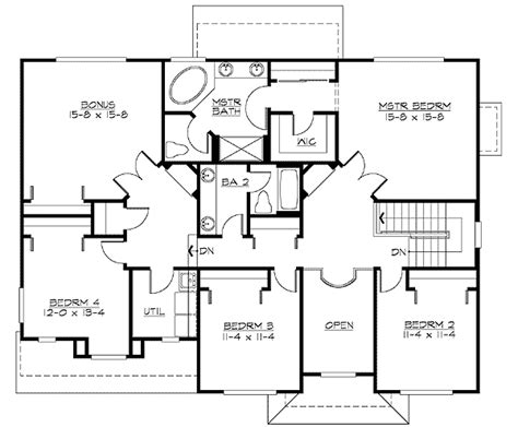 mission style in two versions 36346tx 2nd floor master suite butler walk in pantry cad craftsman in multiple versions 23057jd architectural