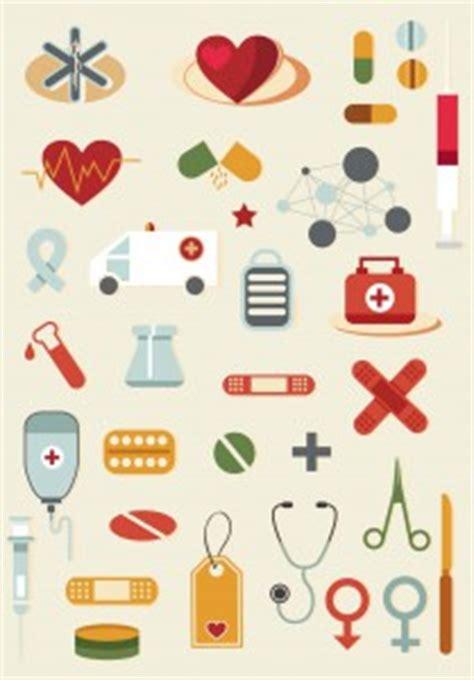 cartoon medical elements set vector