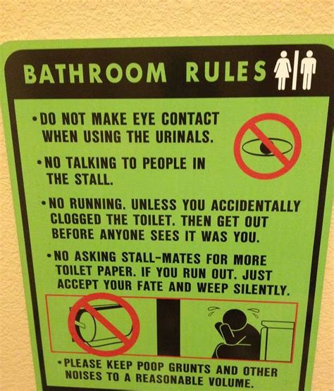 men bathroom rules bathroom funny quotes for men quotesgram