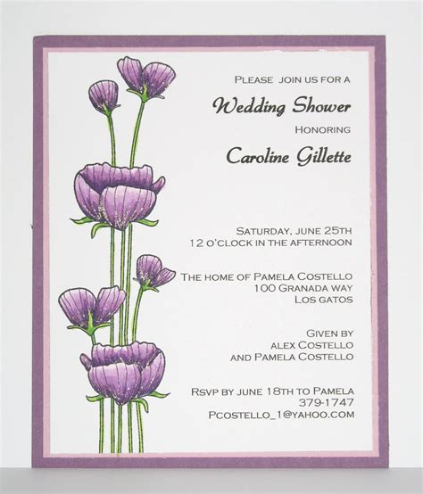program to make bridal shower invitations creative smiles april 2011