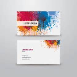 Artist business card vector graphic business card template