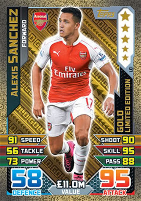 alexis sanchez all cards football cartophilic info exchange topps match attax