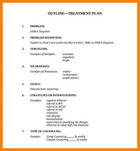 treatment plan templates forms every counselor needs