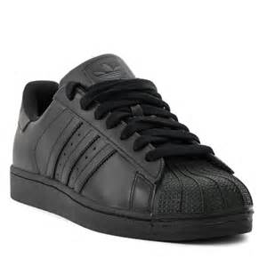 Adidas Superstar Shoes Black Adidas Adidas Superstar 2 0 Ii All Black Leather Classic