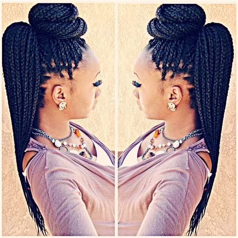 pin up hair styles for black women braided hair top 25 best box braids styling ideas on pinterest box