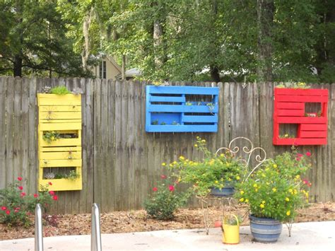 fence hanging planters colorful diy hanging planter box on wooden fence in the