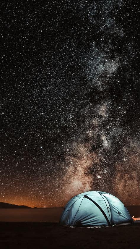 fondos de pantalla noche carpa cielo estrellado