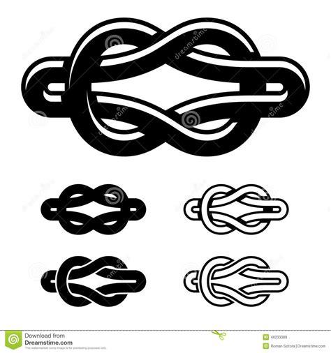 unity knot black white symbols stock vector image 46233389