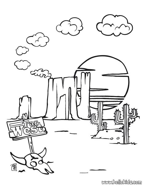 wild west coloring pages hellokids com
