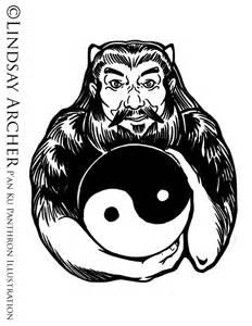 p an ku illustration pantheon card game artist lindsay