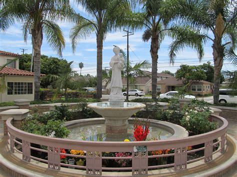 St Columban Garden Grove by Water Fountains Garden Grove