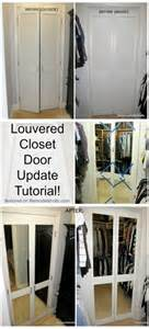 Update Mirrored Closet Doors Diy Mirrored Closet Door Makeover Closet Doors Doors And Tutorials