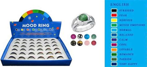 what do the colors of a mood ring fashion