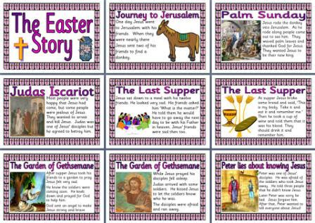 printable children s easter story the easter story printable pages