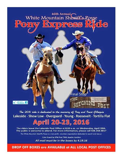 Pony Express pony express coming to smm superstition mountain lost