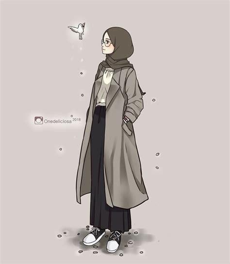 gambar muslimah daily oleh mita permatasari animasi