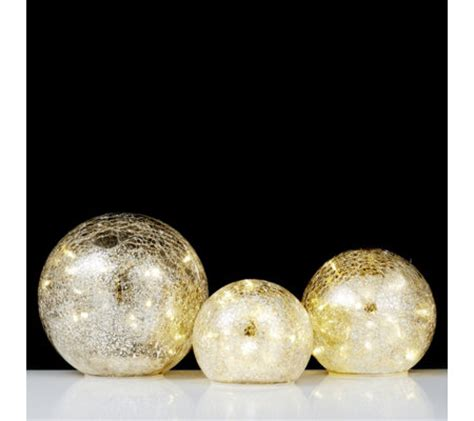 mercury glass balls home reflections set of 3 mercury glass balls with led