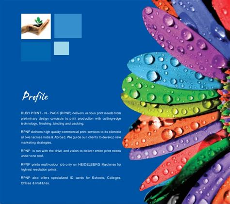 printing and design company profile pdf ruby print n pack rpnp premier company of online printing