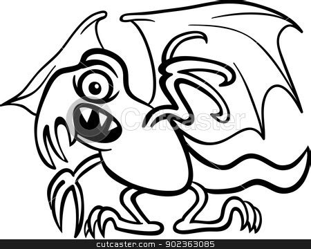 basilisk monster cartoon  coloring book stock vector