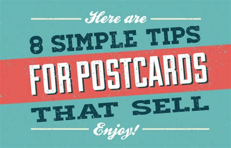 great and simple tips for moving leads 8 simple tips to create postcard designs